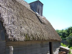 Thatched roof for real