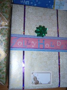 Wrapping paper as ribbon