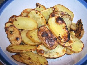 grilled potato