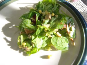 chick spin salad