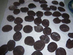 dark choc cookies
