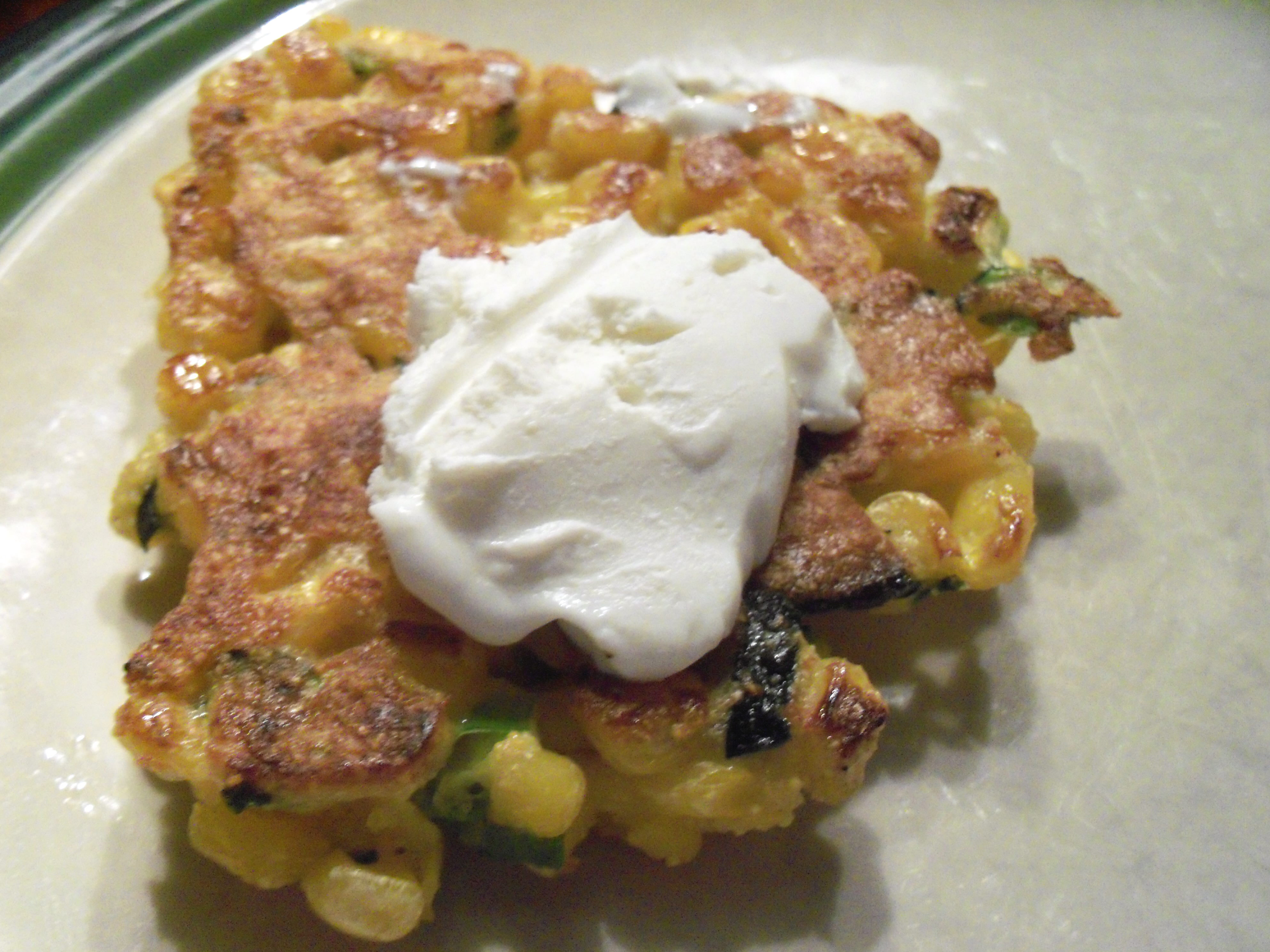 Corn Cakes With Goat Cheese And Bacon Recipe — Dishmaps